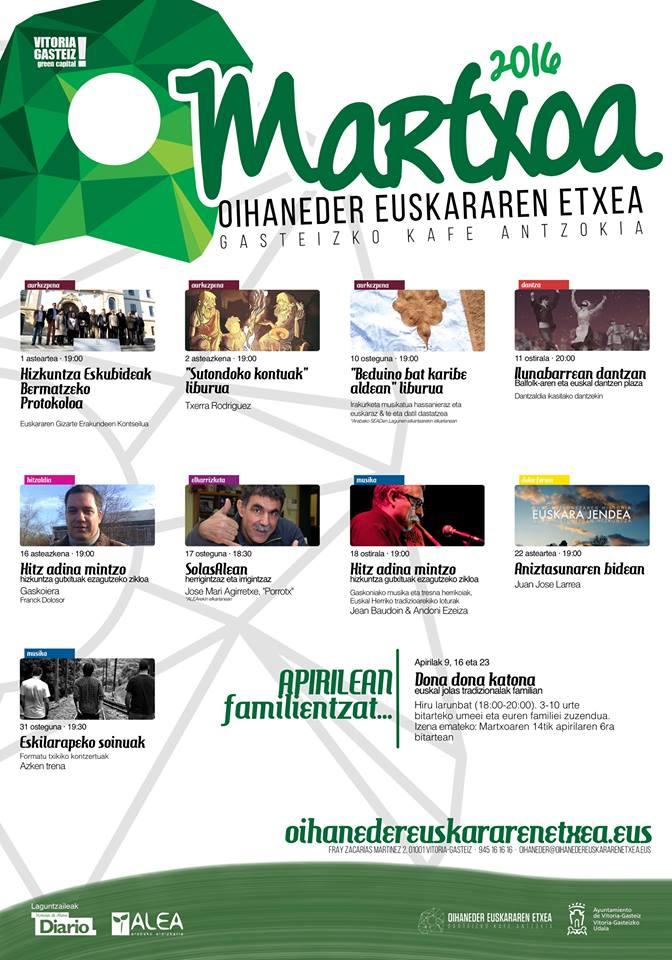 Agenda marzo a golpe de vista gasteizko kafe antzokia for Kafe antzokia agenda