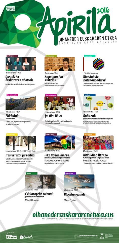 Agenda abril a golpe de vista gasteizko kafe antzokia for Kafe antzokia agenda
